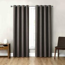"Eclipse Absolute Zero 84"" Blackout Curtains, 2-pack, Max Gray"