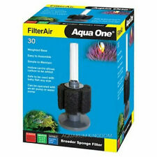 Aqua One FilterAir Aquarium Fry Small Fish Tank Biochemical Sponge Filters 30