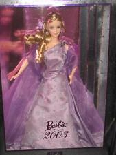 2003 Blone Hair Barbie Lavender Gown Doll Collector Edition B0144