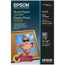 "Epson Glossy Photo Paper 6""x4"" 50 Sheets 200gsm 10x15cm"