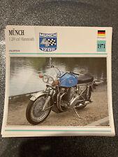 CARTE FICHE MOTO collection ATLAS MUNCH 1200 CM3 MAMMOUTH