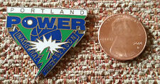 Portland Power Inaugural Season Abl American Basketball League Lapel Pin