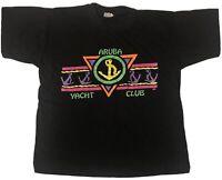 Vintage 80s T-Shirt Size Medium Aruba Yacht Club Paradise Island Single Stitch