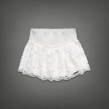 NWT Abercrombie& Fitch Adin Skirt in Abercrombie signature White color