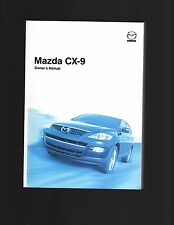 MAZDA CX-9 OWNERS MANUAL, CARS MANUFACTURED JULY 2008 ON