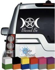 Blessed Be Triple Moon & Pentagram Wiccan Vinyl Car Window, Sticker / Graphic