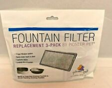 NEW Pioneer Pet Replacement Filters for Plastic Fountains 3 Pack Item #3003