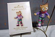 "2006 Hallmark QXG2903 ""My Fifth Christmas - Girl"" Ornament"