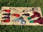 Vintage Curtain Drapery Tassle Tie Back Lot Gold Red Silver, Napkin Rings NEW