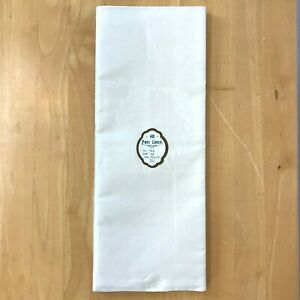 Vintage Irish Linen Tablecloth 70x90 UNUSED Off White Damask Tulip Ireland K7