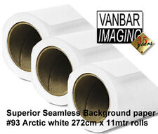 Superior #93 Arctic White Seamless Background Paper Roll 2.72(W) x 11(L)m