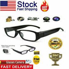 1080P HD Camera Glasses Spy Hidden Eyeglass DVR Video Eyewear Recorder NVR 32GB