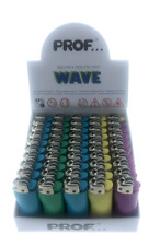 50 Small Lighters Prof Wave Multi Color Free Shipping
