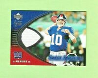 2004 Upper Deck ELI MANNING RC Sweet Spot Swatches #SW-EM NY Giants RARE ROOKIE
