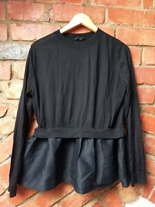 COS wool/ silk peplum jumper top. Size L. New