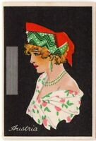 Austria Young Woman Traditional Dress Clothing 1920s Trade Ad Card