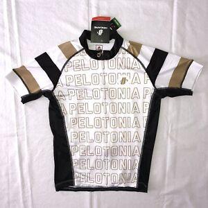 NWT New Pelotonia Columbus Ohio Cycling Race Jersey Hincapie Black Gold White M