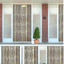 Bamboo Effect Curtain Blinds Wooden Beaded Insects Fly Door Screen Easy Hanging