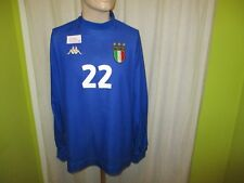 """Italie """"FIGC"""" Nº 439 Kappa Manches longues matchworn Maillot 2001-2002 + Nº 22 Taille L"""