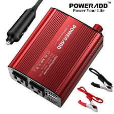 300W Car Power Inverter DC 12V to 110V AC Converter with Dual USB Car Charger US