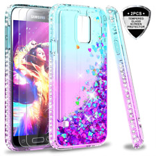 S5 Case, Galaxy S5 Glitter with Tempered Glass Screen Protector [2 Pack] for Gir