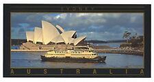 NSW - c1990s POSTCARD - SYDNEY FERRY AND OPERA HOUSE, SYDNEY, NEW SOUTH WALES