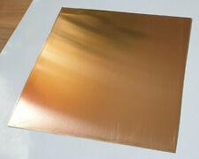 GOLDMESSING Kupfer Messing Zuschnitte Blech Platte 130 mm x 130 mm x 1 mm