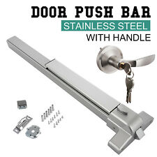 Door Push Bar Panic Exit Device Lock With Handle Emergency Hardware Commercial