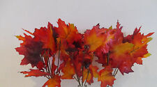 Artificial Maple Leaf Spray Pack of 3 Red & Orange Autumn 30cm tall