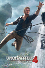 UNCHARTED 4 Poster - JUMP - New UNCHARTED 4 A Thief's End gaming poster FP4238