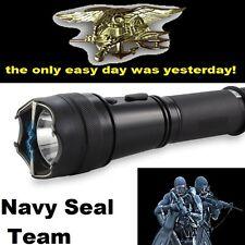 NAVY SEAL TEAM Self Defense Stun Gun LED Flashlight +Taser Holster