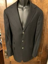 Ralph Lauren Purple Label Men Handmade Cashmere Sport Coat 42L Italy Black EUC