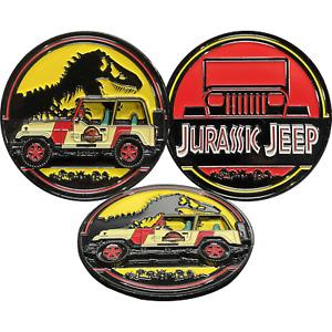 BL17-004 Jurassic Park Jeep Tyrannosaurus Rex Dinosaur Truck 4x4 Challenge Coin
