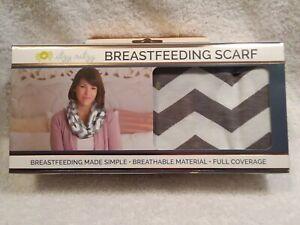 Itzy Ritzy Breastfeeding Scarf Full Coverage Gray & white