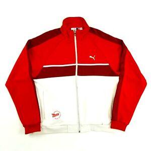 Vintage PUMA Track Top Jacket Red L Full Zip