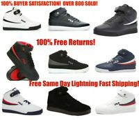 Mens Fila Vulc13 Mid Plus Suede Leather Mid HighTop Casual Athletic Shoes A-high