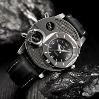Mechanical Watch Men Date Luxury Stainless Steel Leather Military Analog Watches