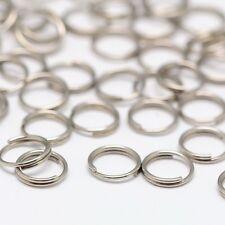 LOT de 120 ANNEAUX DOUBLES CONNECTEURS 7mm ACIER INOXYDABLE perles bijoux de sac