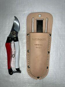 SaidiCo Professional Garden Pruner & Takumashii Leather Pruner Holster Combo Kit