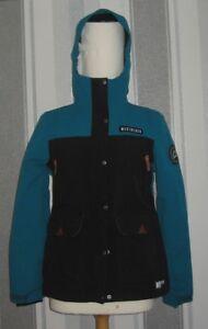 WEST BEACH BROOK SKI JACKET IN BLACK/BLUE SIZE XS 20k waterproof 20k breathable