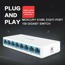 8 Ports 10/100Mbps Fast Ethernet Network Switch Switcher S108C RJ45 LAN Hub US