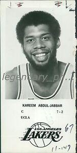 1979 Kareem Abdul-Jabbar Los Angeles Lakers Portrait Original News Service Photo