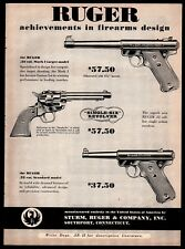 1953 Ruger Mark I and Standard Pistol, Single-Six Revolver Ad w/original prices