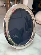 Antique Silver Oval Freestanding Picture Frame Vintage