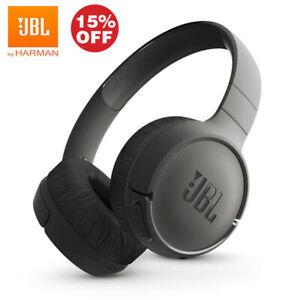 JBL E500BT Wireless Bluetooth On Ear Rechargeable Black Headphones Sound Black
