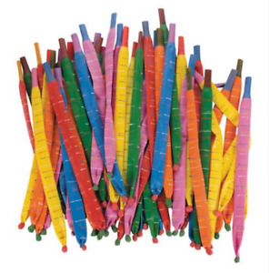 Rocket Balloons with mouthpiece Pack of 144 - Various Colours - Great Party Fun