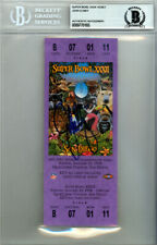JOHN ELWAY AUTOGRAPHED SIGNED SB XXXII PURPLE TICKET BRONCOS BECKETT 123550