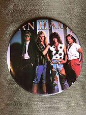 Rare Van Halen 80's 6 Inch Button Eddie Alex David Lee Roth 'I'll Wait'