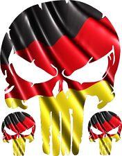 """PUNISHER SKULL GERMAN FLAG LOGO VINYL DECAL HOOD SIDE FOR CAR TRUCK 28"""""""