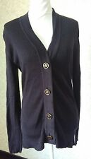Tory Burch navy cotton cardigan, large
